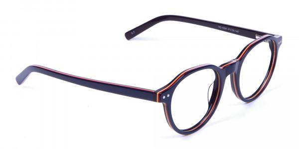 Black & Hints of Orange Eyeglasses - 1