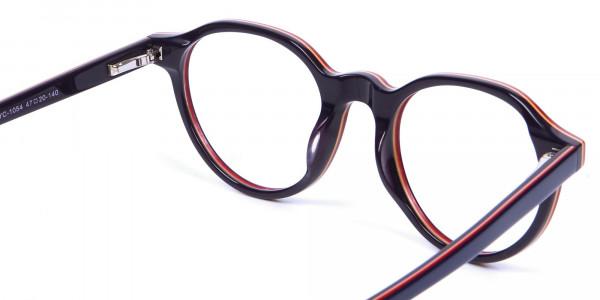 Black & Hints of Orange Eyeglasses - 4