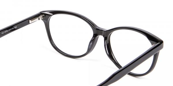 Black Cat Eye Glasses - 4