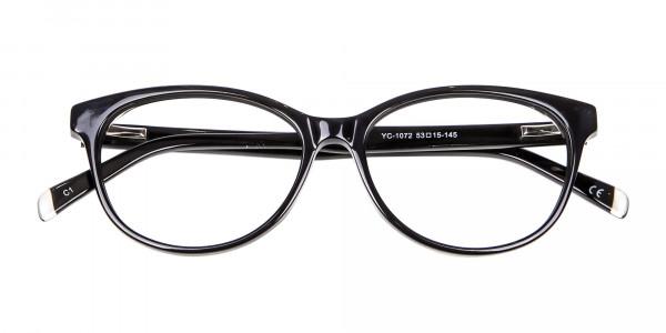 Black Cat Eye Glasses - 5