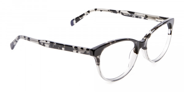 Crystal Spotty Black Frames - 1