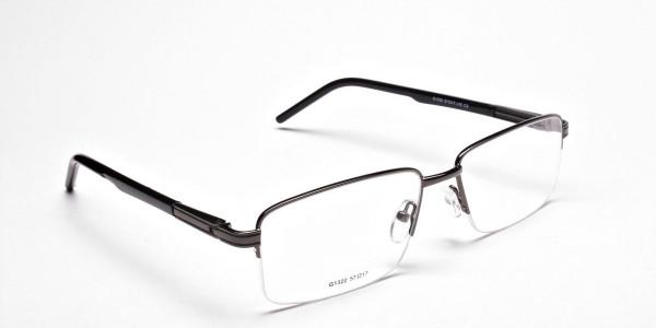 Half-Rim Black Gunmetal Frames - 2