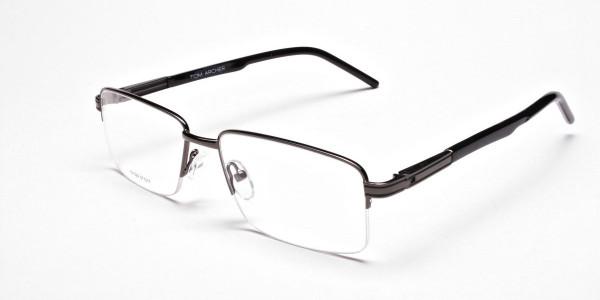 Half-Rim Black Gunmetal Frames- 3