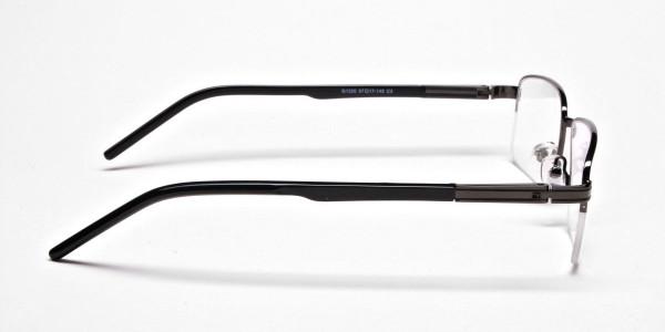 Half-Rim Black Gunmetal Frames - 4