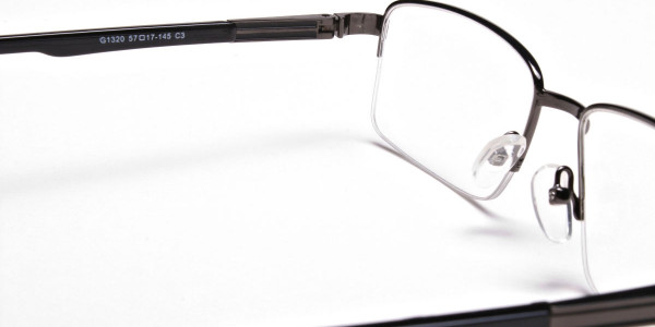 Half-Rim Black Gunmetal Frames - 5