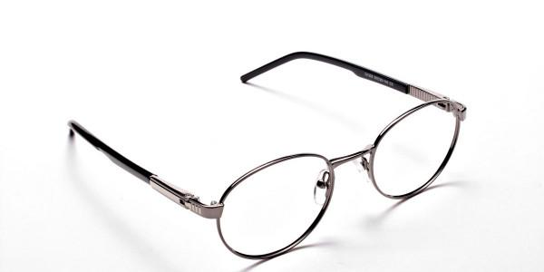 Round Glasses in Gunmetal, Eyeglasses - 2