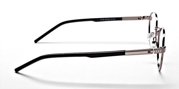Round Glasses in Gunmetal, Eyeglasses - 4
