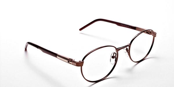 Round Glasses in Brown, Eyeglasses -2
