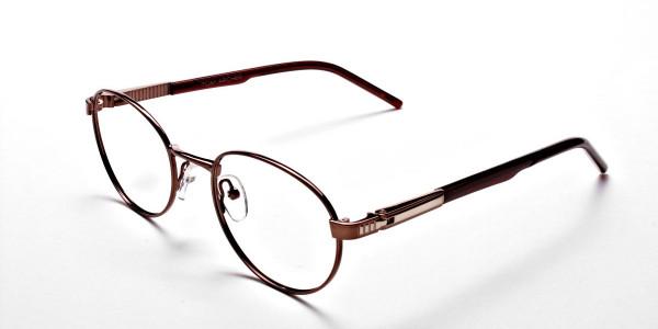 Round Glasses in Brown, Eyeglasses -3