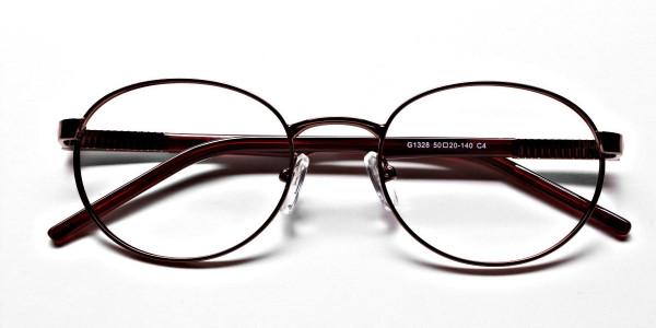 Round Glasses in Brown, Eyeglasses -6