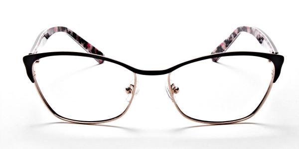 Cat Eye Glasses Floral Attributes