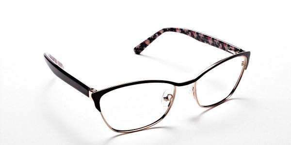 Cat Eye Glasses Floral Attributes -1