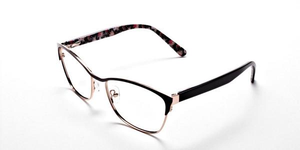 Cat Eye Glasses Floral Attributes -2