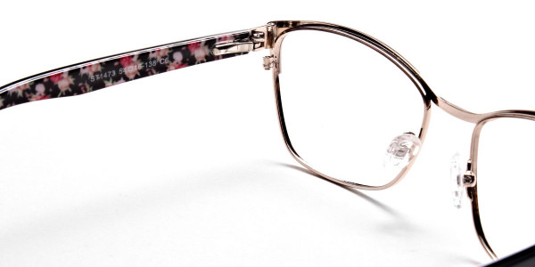 Cat Eye Glasses Floral Attributes -4