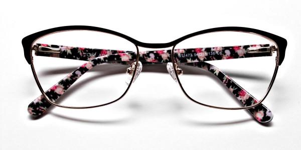 Cat Eye Glasses Floral Attributes -5