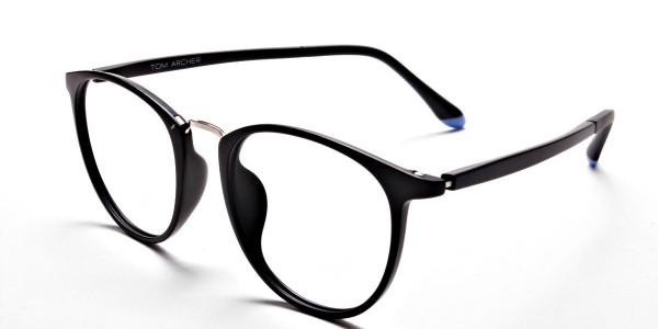 Black Matte Funky Glasses -2