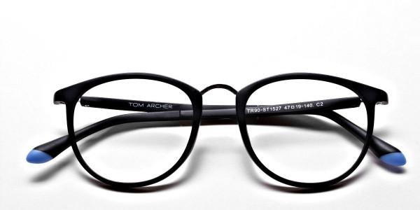 Black Matte Funky Glasses -5