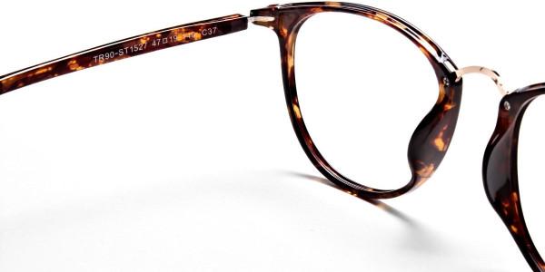Havana & Tortoise Transparent Glasses -4