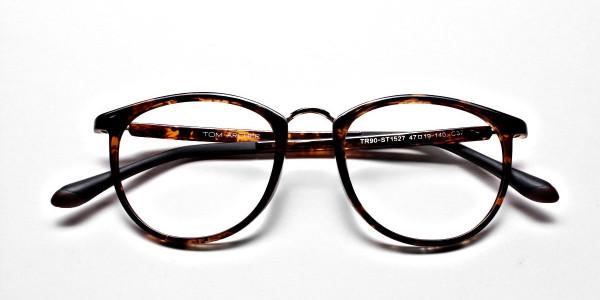 Havana & Tortoise Transparent Glasses -5