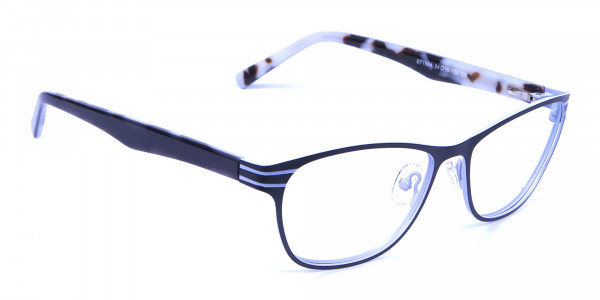 Back and White Cat Eye Glasses Perfection -1