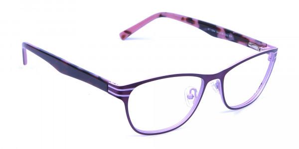 Pink & Black Cat Eye Glasses -1
