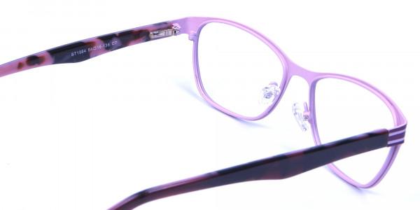 Pink & Black Cat Eye Glasses -4