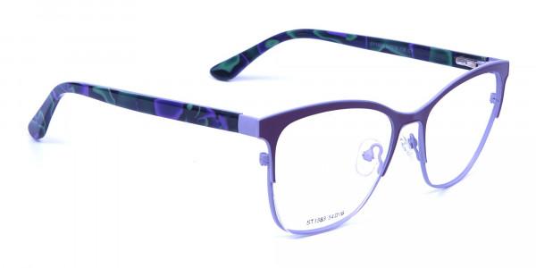 Violet & Aurora Green Dual Tone Glasses -1