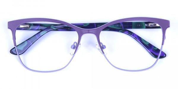 Violet & Aurora Green Dual Tone Glasses -5