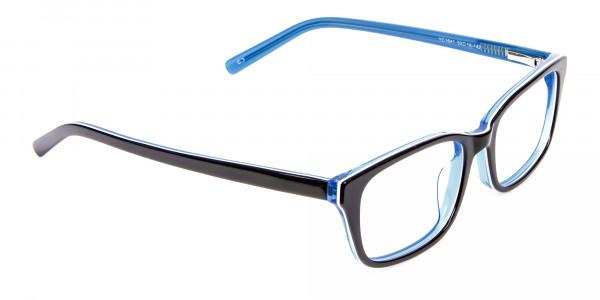 Striking Blue Eyeglass Frames -2