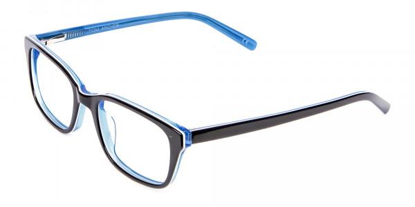 Striking Blue Eyeglass Frames -3