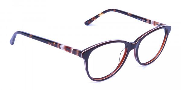 Brown and Tortoiseshell Pattern Glasses - 1