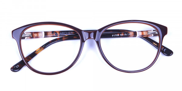 Brown and Tortoiseshell Pattern Glasses - 5