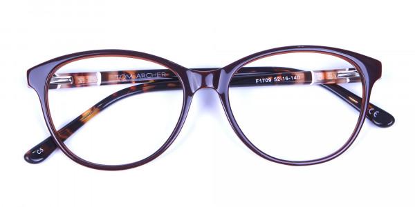 Brown and Tortoiseshell Pattern Glasses - 5