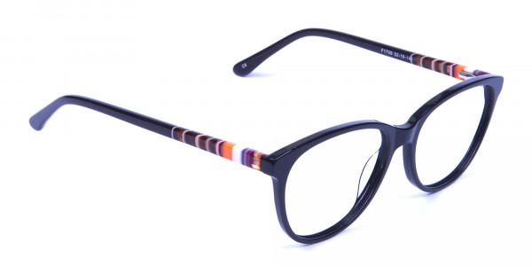 Black and Colour Mix Glasses - 1