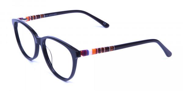 Black and Colour Mix Glasses - 2