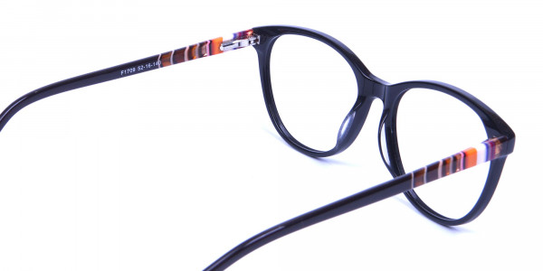 Black and Colour Mix Glasses - 4