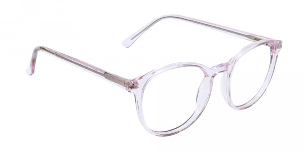 Round Pinky Crystal Glasses - 2