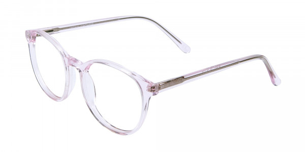 Round Pinky Crystal Glasses - 3