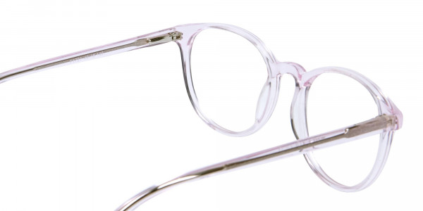 Round Pinky Crystal Glasses - 5
