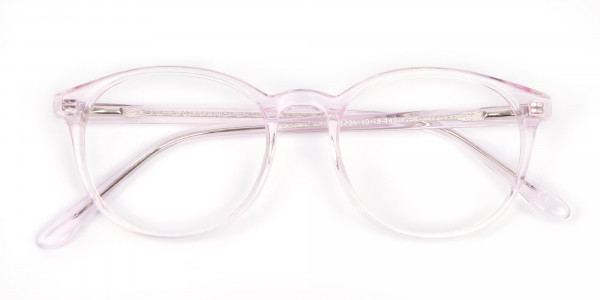 Round Pinky Crystal Glasses - 6