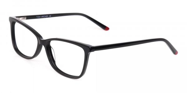 Black Cat-Eye Rectangular Eyeglasses Frame Women -3