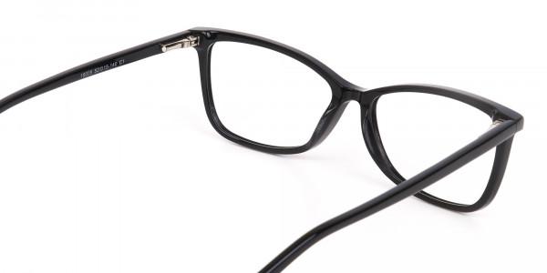 Black Cat-Eye Rectangular Eyeglasses Frame Women -5