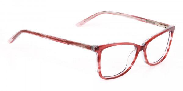 Translucent Rose Red Cat Eye Glasses Women-2