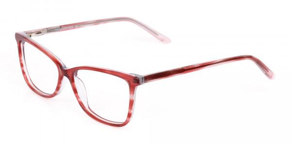 Translucent Rose Red Cat Eye Glasses Women-3