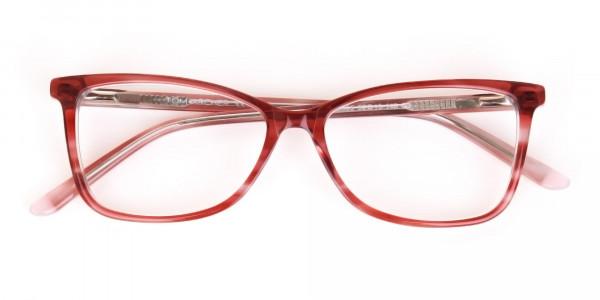 Translucent Rose Red Cat Eye Glasses Women-7