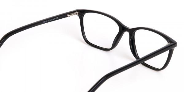 Black Rectangular Acetate Eyeglasses Unisex-5
