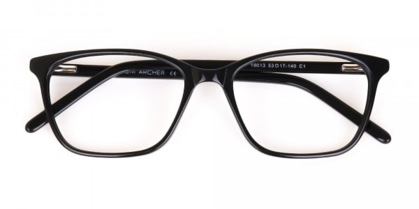 Black Rectangular Acetate Eyeglasses Unisex-6