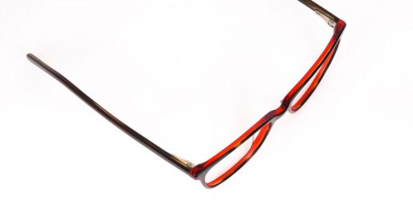 Dark Cherry Red Rectangular Glasses Frame Women-6