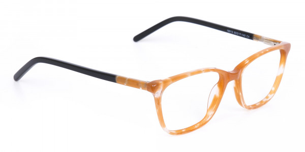 Brown Sparkle Apricot Nude Black Eyeglasses-2