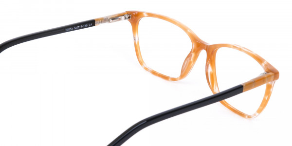 Brown Sparkle Apricot Nude Black Eyeglasses-5
